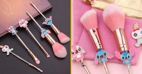 topitruc, stitch, pinceaux, maquillage