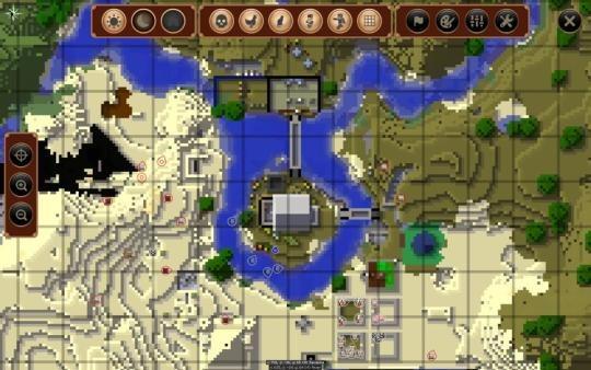 JourneyMap podglad mapy w grze widok pelny 2
