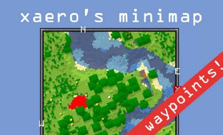 Xaeros Minimap minecraft mapa mod