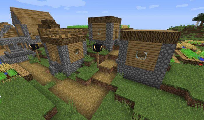bruk w domkach wioski nowe tekstury minecraft