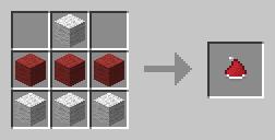 czerwona czapeczka mikolaja minecraft