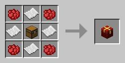 czerwony prezent minecraft