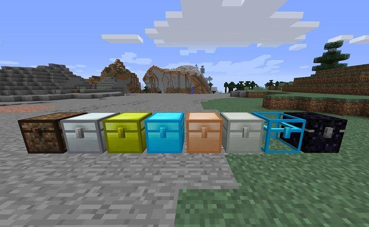 iron chests mod minecraft wszystkie rodzaje skrzyn