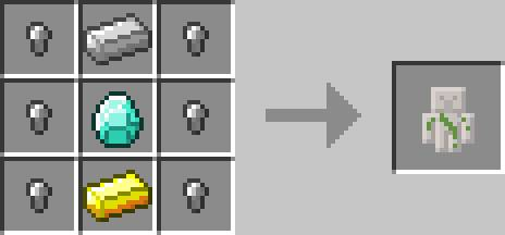iron golem receptura inventory pets
