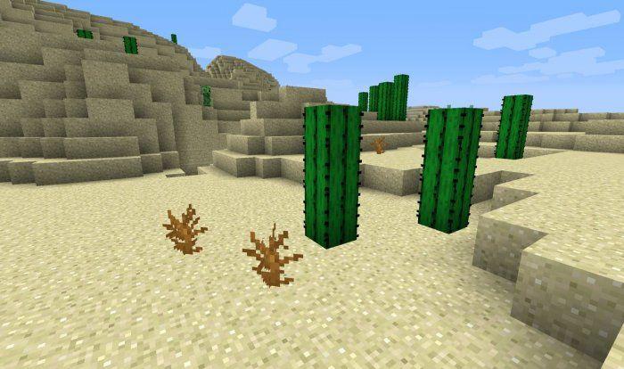kaktusy wyschniete krzewy nowe tekstury minecraft