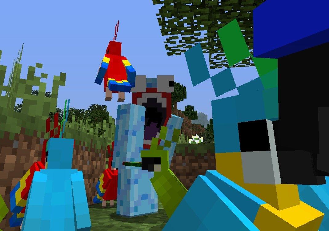 latajace papugi minecraft 1.12