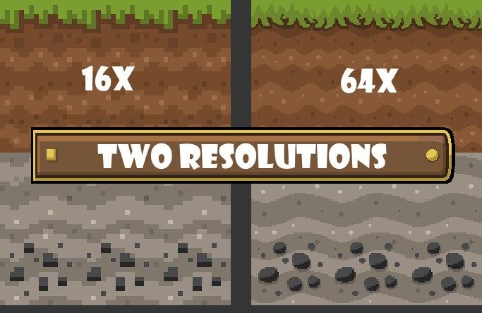 mad pixels tekstury kreskowkowe minecraft rozmiar 16x 64x