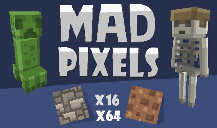 mad pixels tekstury kreskowkowe minecraft