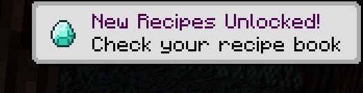 okno powiadomien minecraft receptury