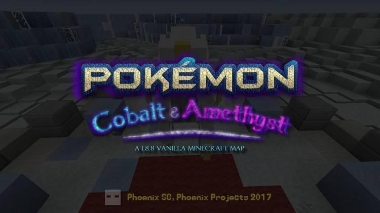 pokemon cobalt oraz amethyst mapa w minecraft 1.8.8