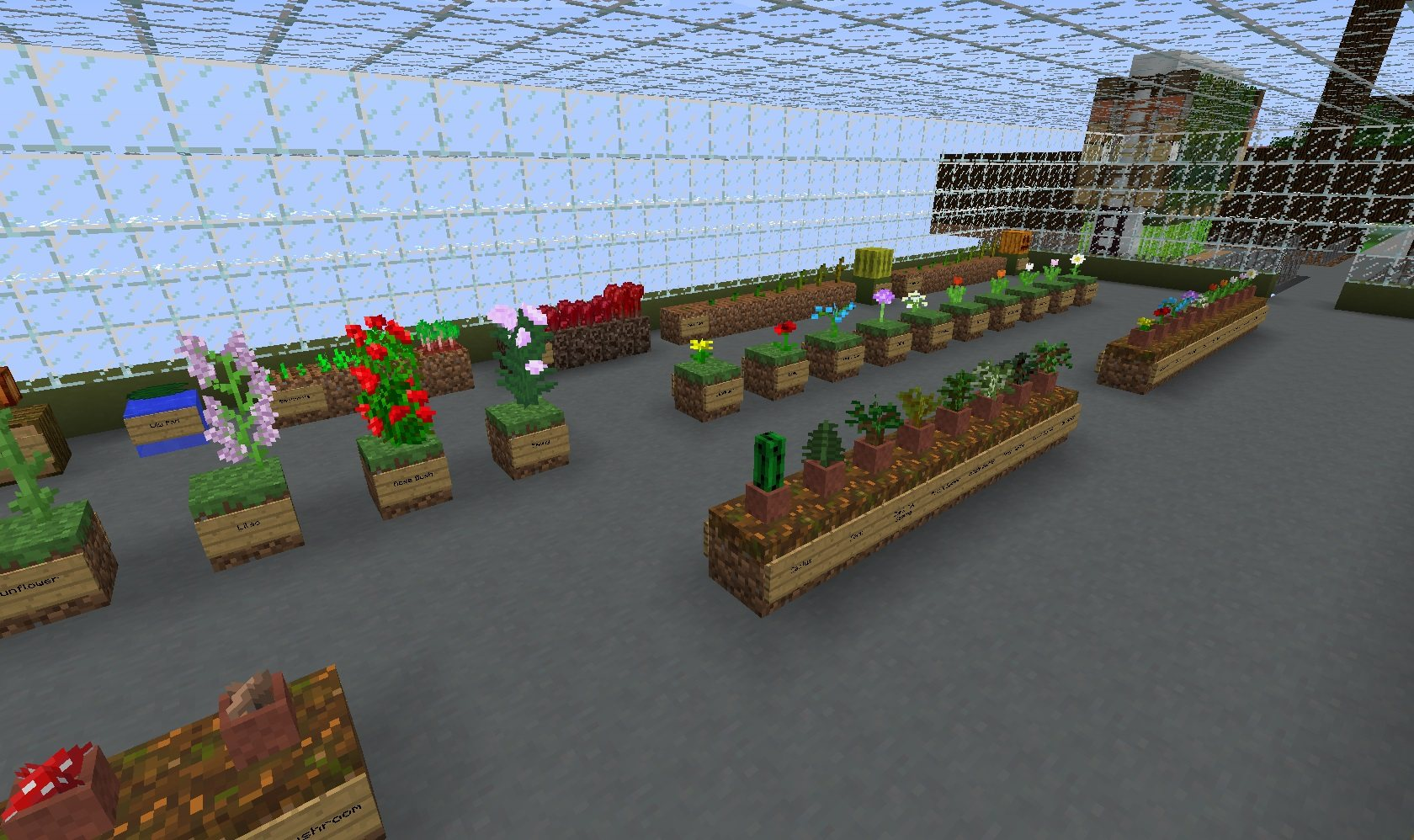 prezentacja biomow minecraft mapa testowa