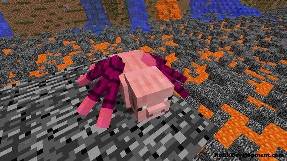spider pig mutated mobs minecraft 1.12