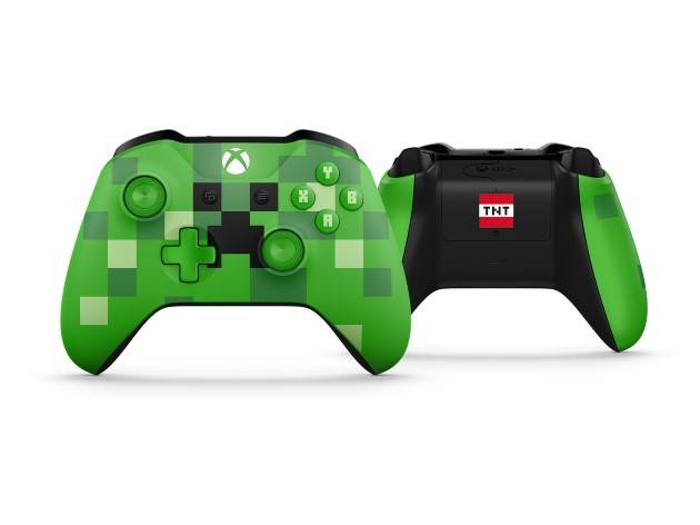 xbox one s minecraft kontlorer wersja creeper