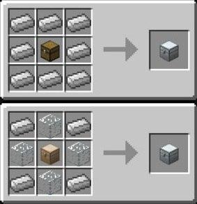 zelazna skrzynia receptura iron chests