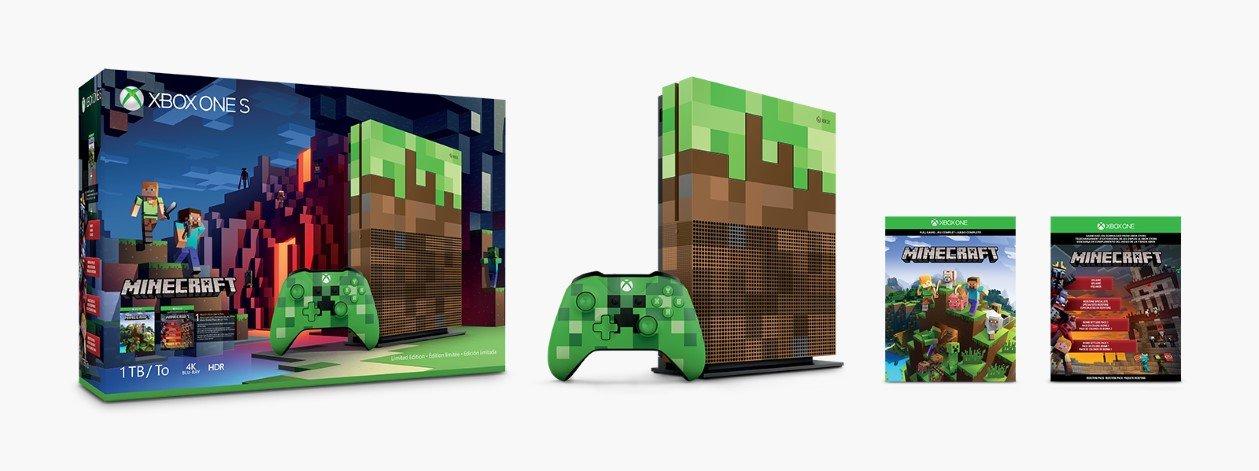 zestaw xbox one s edycja minecraft