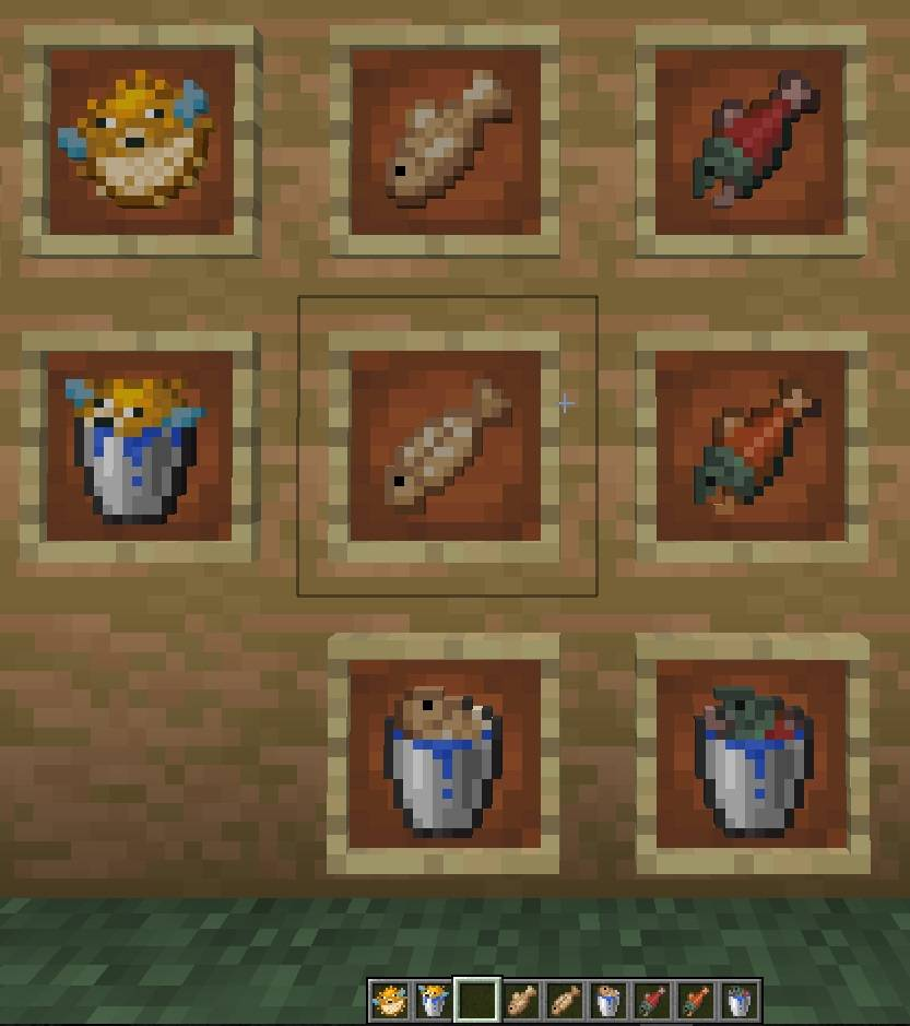 wiadra ryb minecraft
