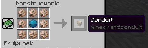 conduit przewod minecraft 1.13