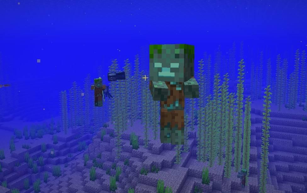 mob zombie baby topielec pod woda ocean minecraft 1.13