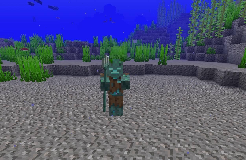 mob zombie topielec pod woda ocean minecraft 1.13 img2