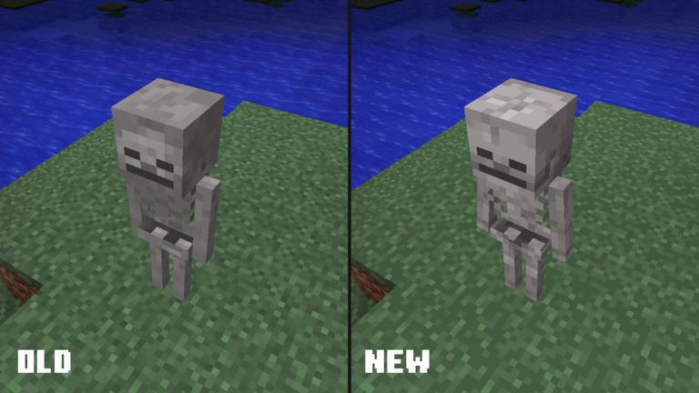 nowa tekstura szkieleta minecraft 1.13 1