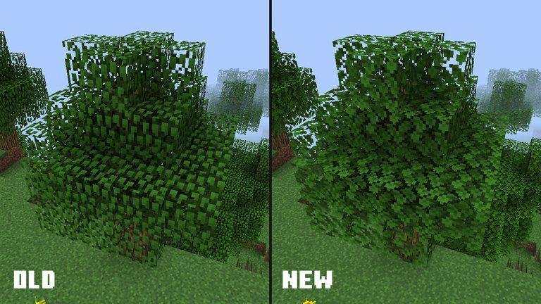 nowa tekstura lisci minecraft 1.13 2
