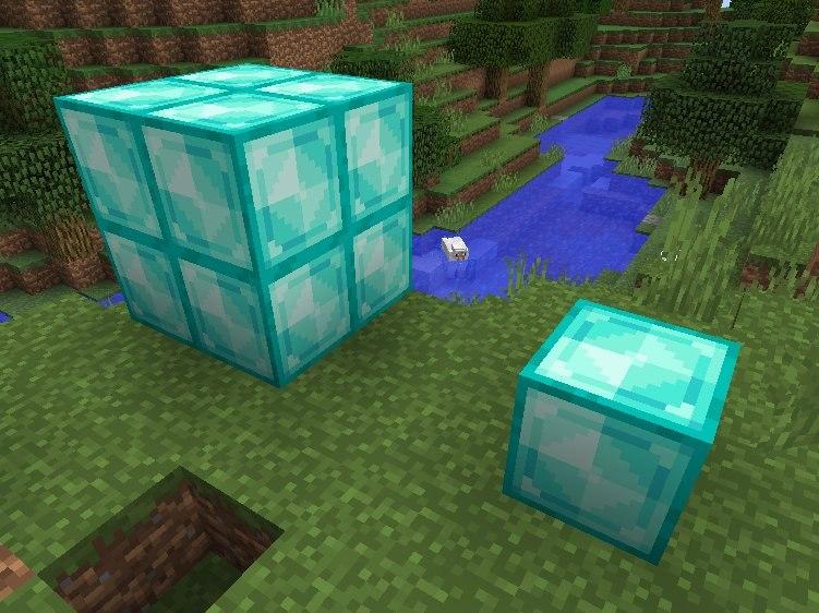nowe tekstury blokow minecraft 1.13 diamentowe bloki
