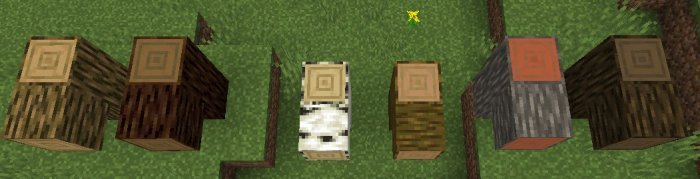 nowe tekstury blokow minecraft 1.13 drewno