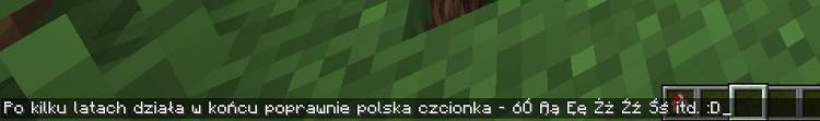 polska czcionka w mniecraft