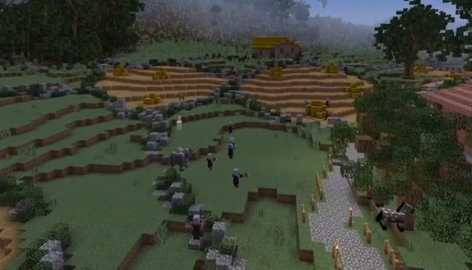 atak lupiezcow na wioske mieszkancow minecraft