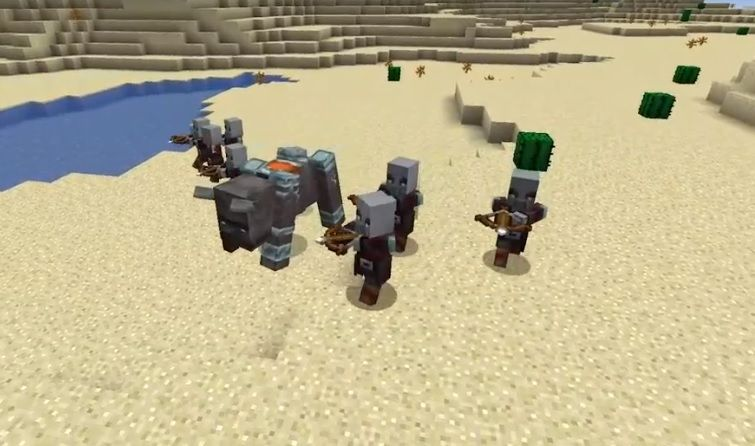 lupiezcy i bestia minecraft atakuja wioski mieszkancow