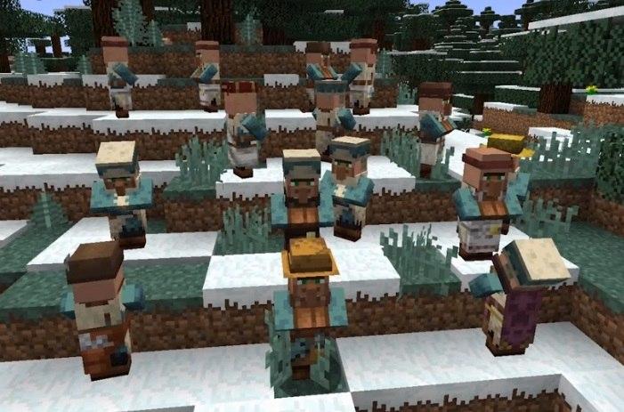 mieszkancy wiosek minecraft nowe skiny i profesje villagerow