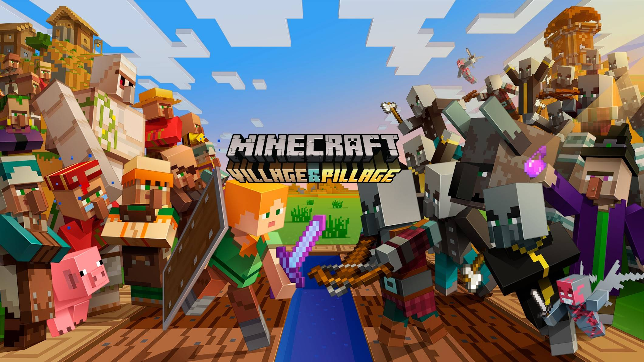 1.14 minecraft village end pillage