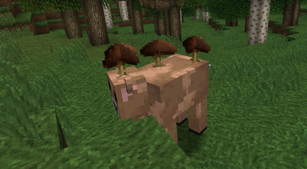 brazowa grzybowa krowa minecraft
