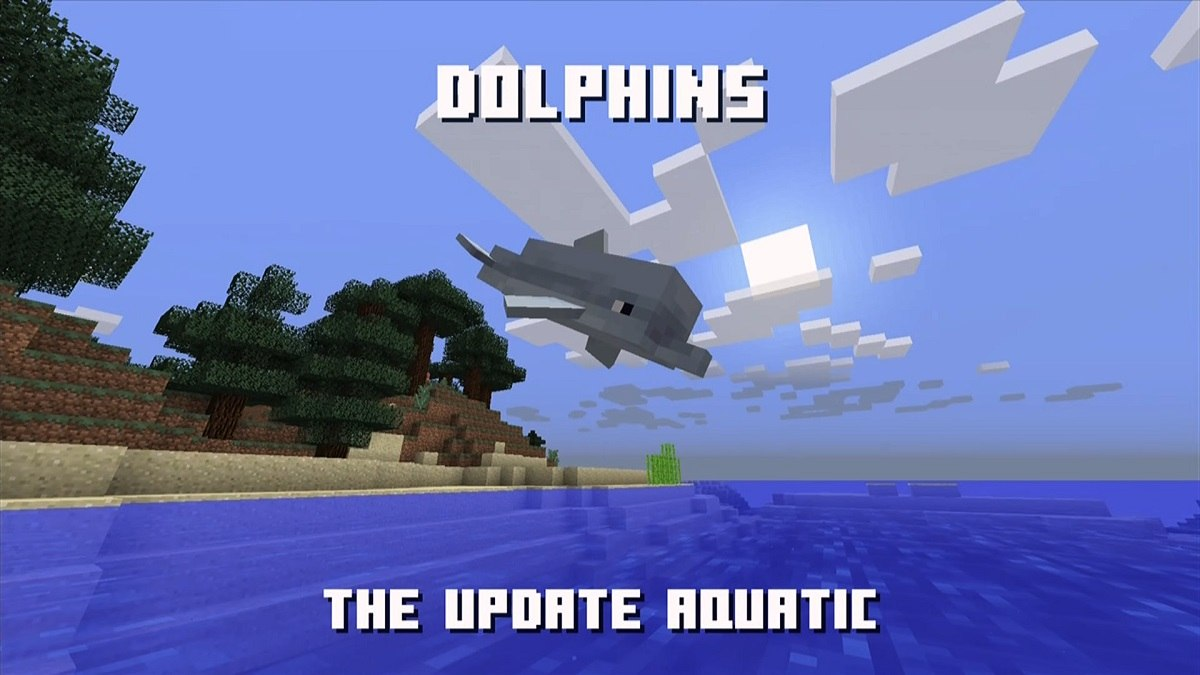 delfiny aquatic update minecraft 1.14