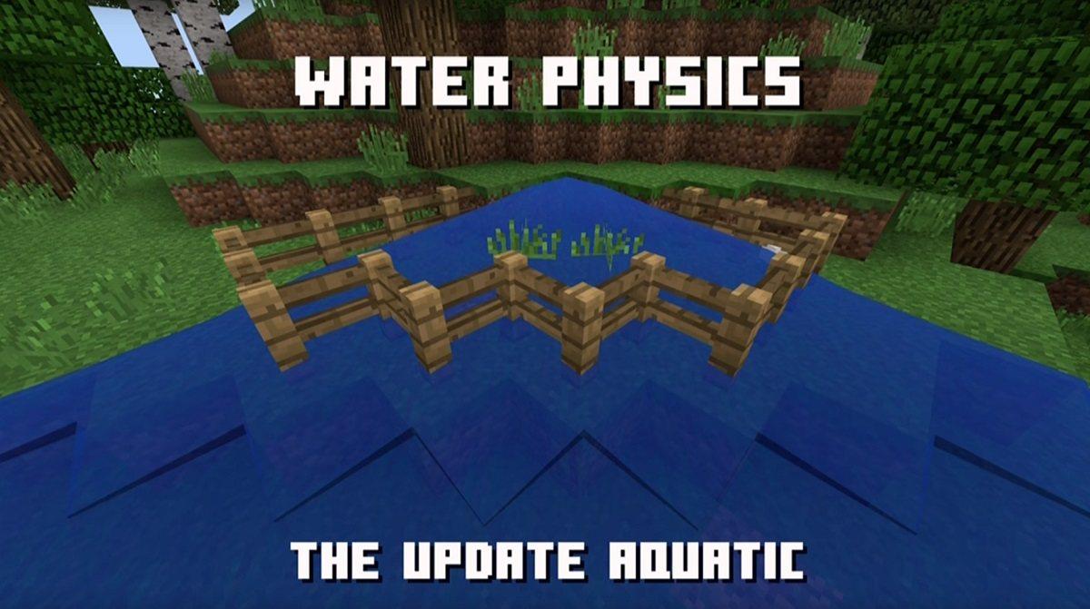 fizyka wody w nowym minecraft 1.14