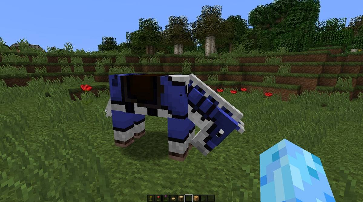 kolorowa skorzana zbroja konia minecraft