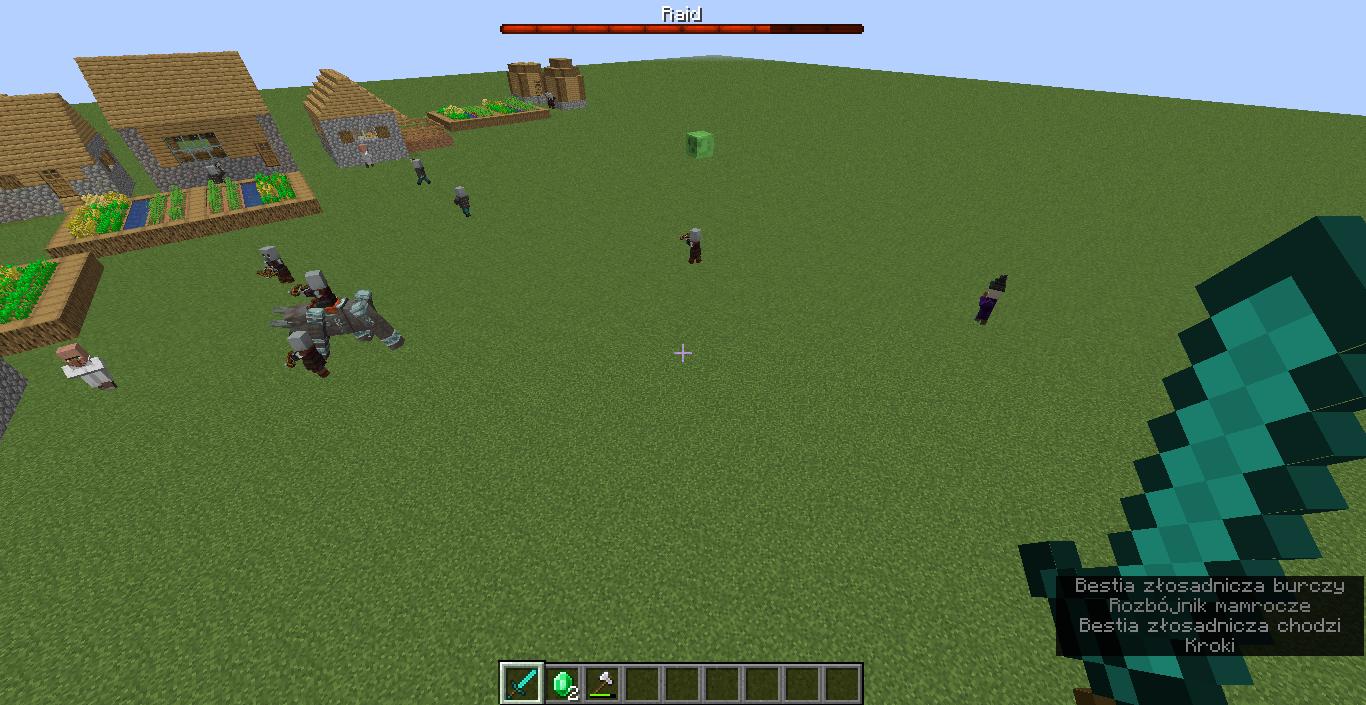 najazd minecraft pillager raids