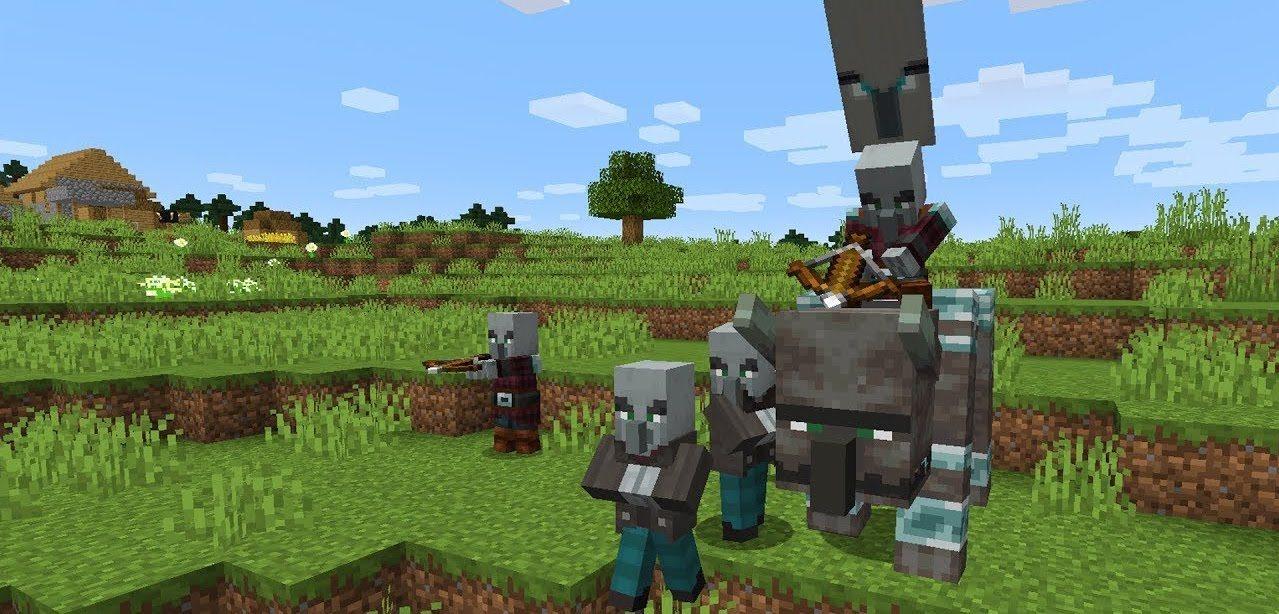 najazd rozbojnikow na wioske minecraft 1.14