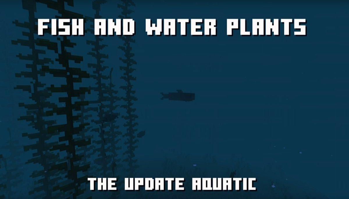 nowa roslinnosc ryby minecraft 1.14