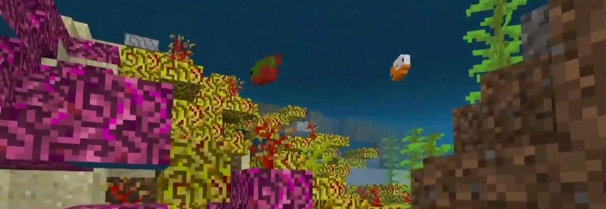 rafa koralowa oraz nowe ryby minecraft 1.14