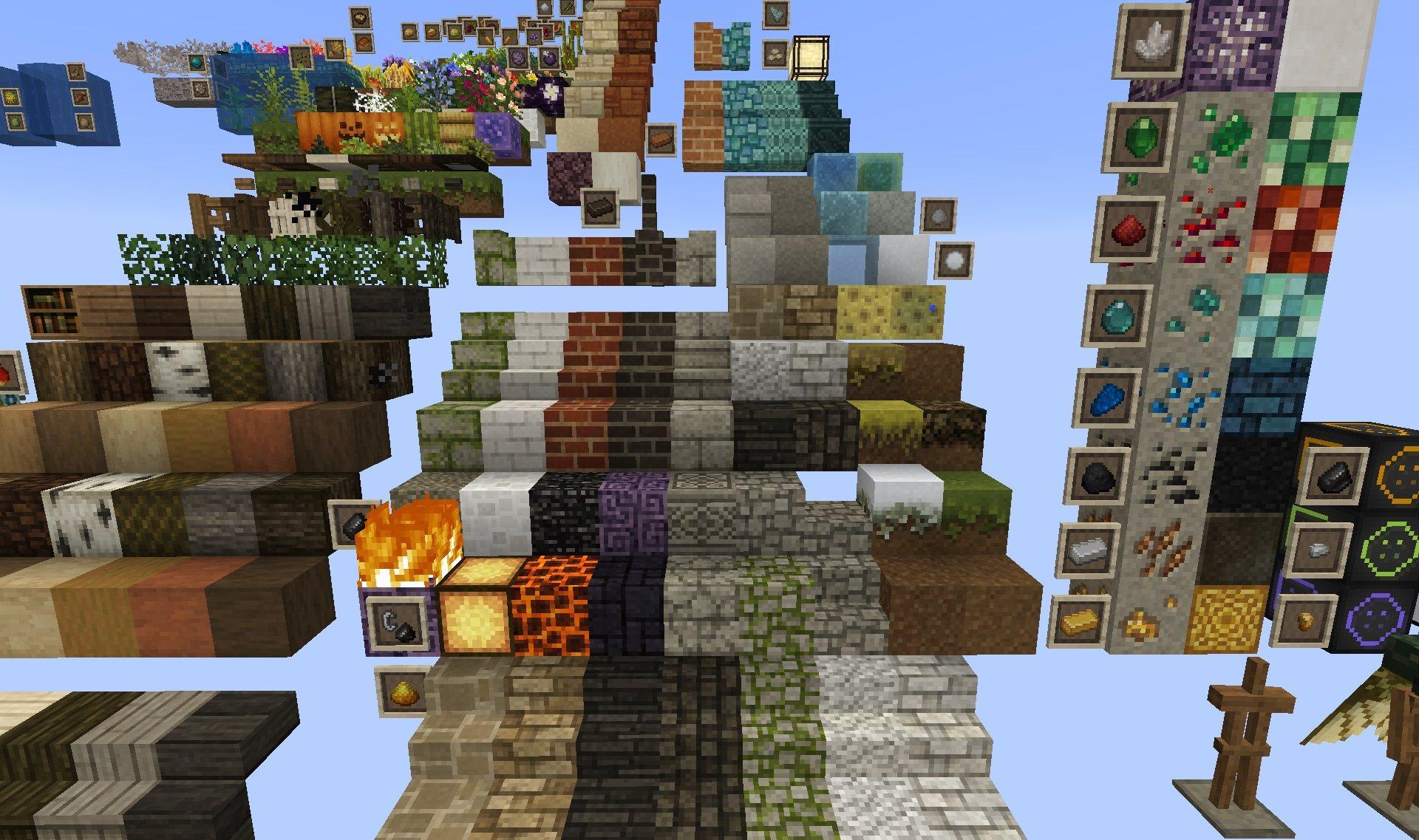 Mizunos 16 craft paczka tekstur 1.15.2 minecraft