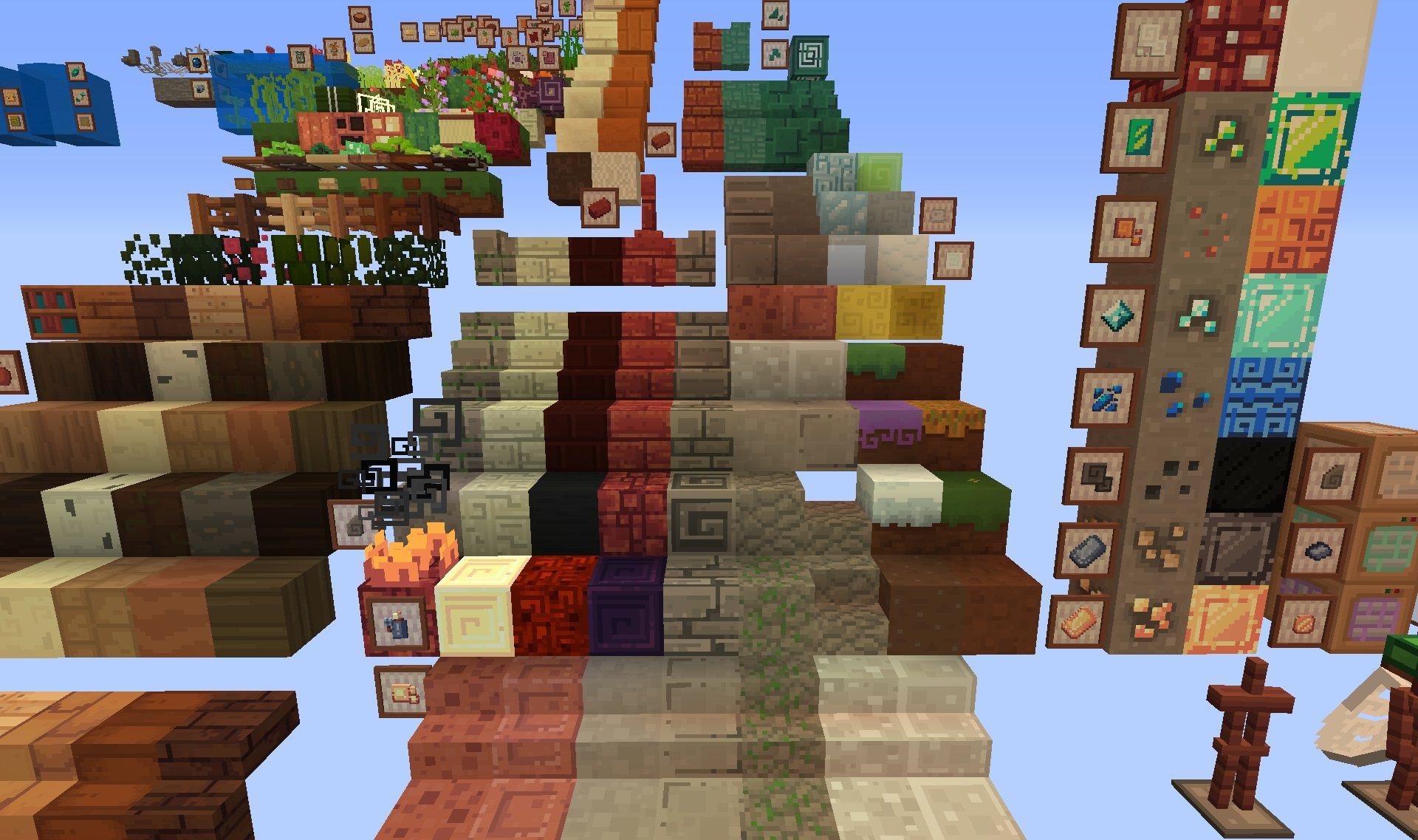 The Find Overgrown paczka tekstur 1.15.2 minecraft