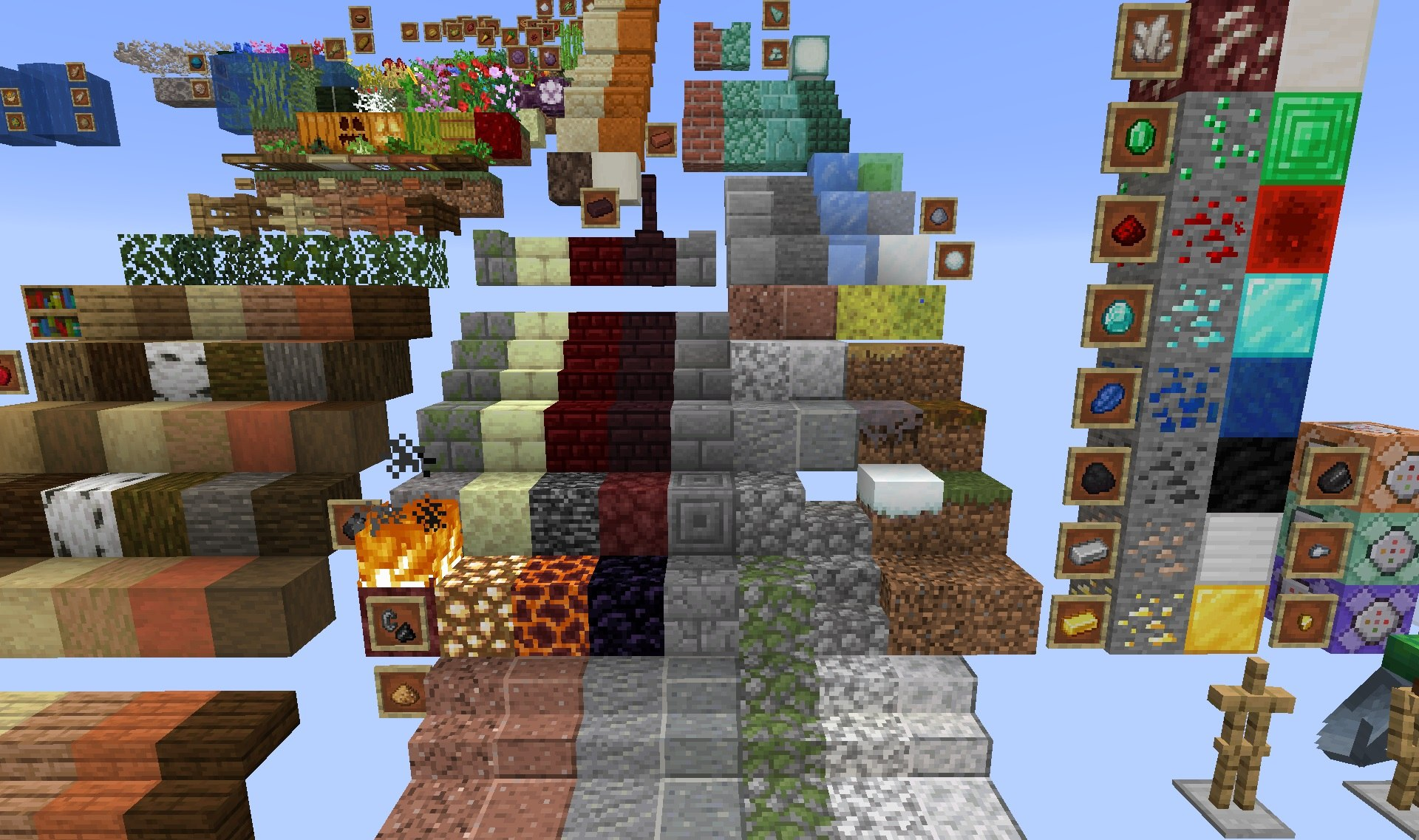 minecraft default 1.15.2 compare other resource packs