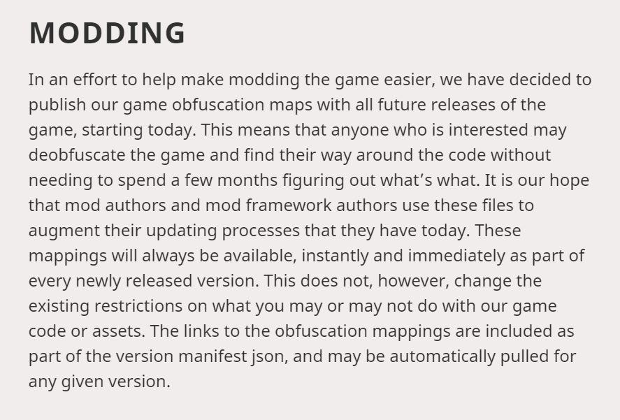 no more obfuscated NMS class in minecraft modding