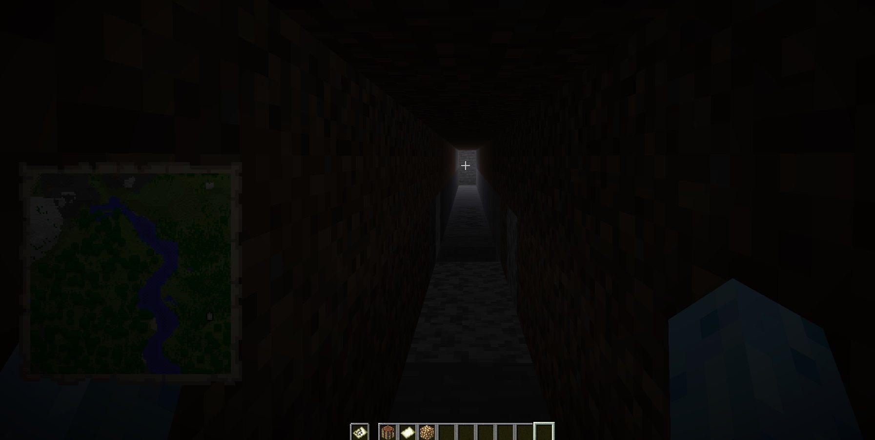 widocznosc mapy poziom swiatla 0 minecraft