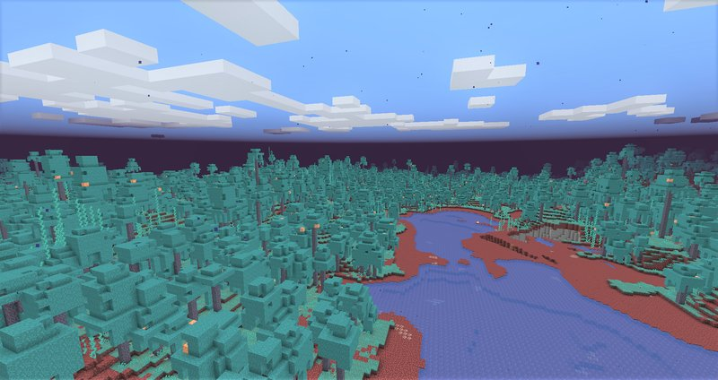 Warped Forest Overworld minecraft now generator