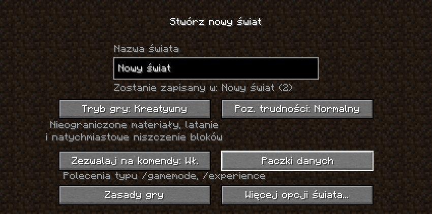 menu paczki danych minecraft img1