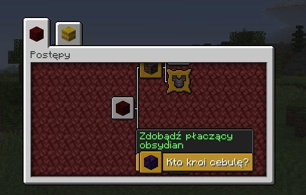 minecraft postepy placzacy obsydian