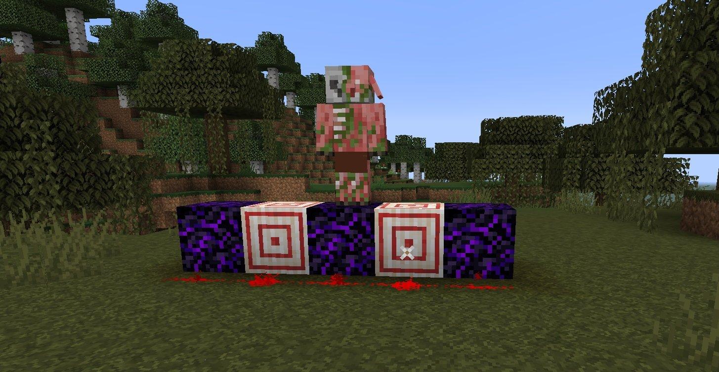 snapshot 20w09a zombie pigliny blok tarczy placzacy obsydian minecraft 1.16