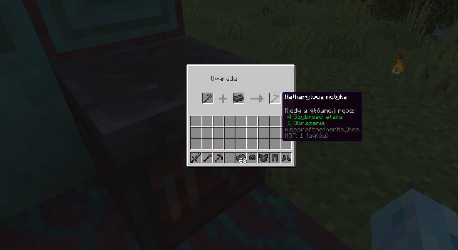 stol kowalski minecraft 1.16 ulepszenia netherytowe